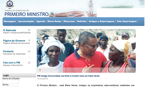 Prime Minister of Cape Verde Uses Joomla