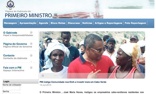 Prime Minister of Cape Verde Uses Joomla