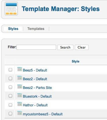 the new template folder shows in the templates directory