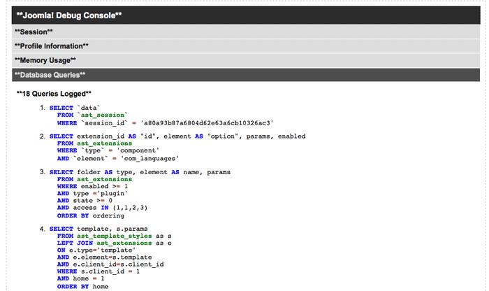 Joomla 2.5 - A Debug plugin formázása - Joomlabs.hu