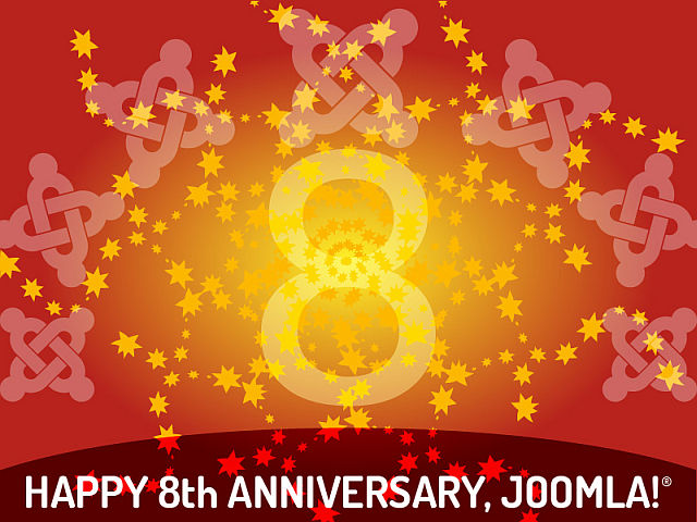 Happy 8th anniversary Joomla!