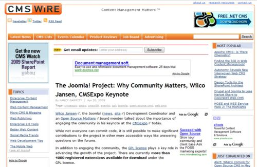 CMS Wire: Wilco Jansen: Why Community Matters at CMS Expo