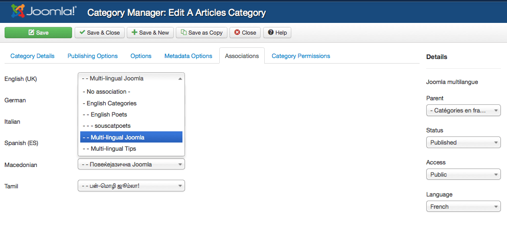 Archive 3 for the categories for which association is implemented articles categories for now a new association column will display in the category manager fandeluxe Image collections