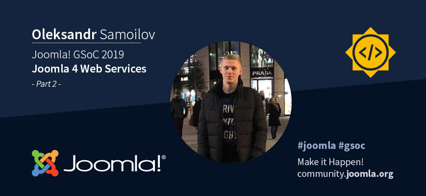 Joomla Google Summer of Code 2019