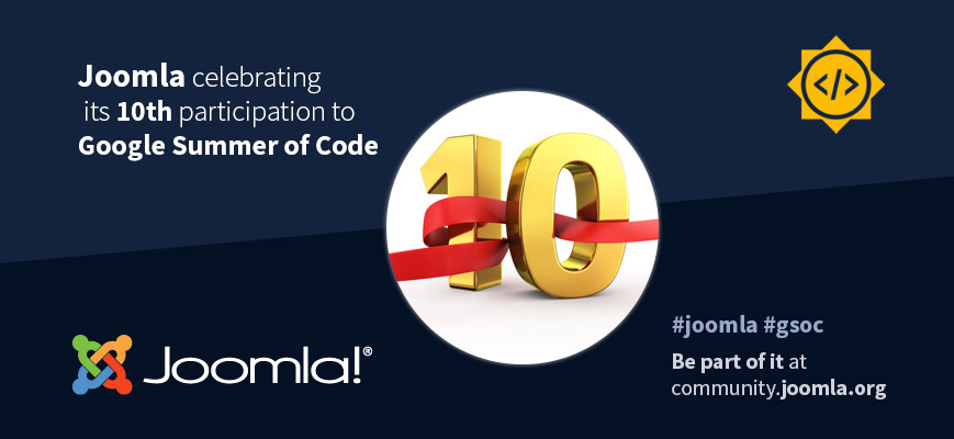 Joomla 10th anniversary with GSoC