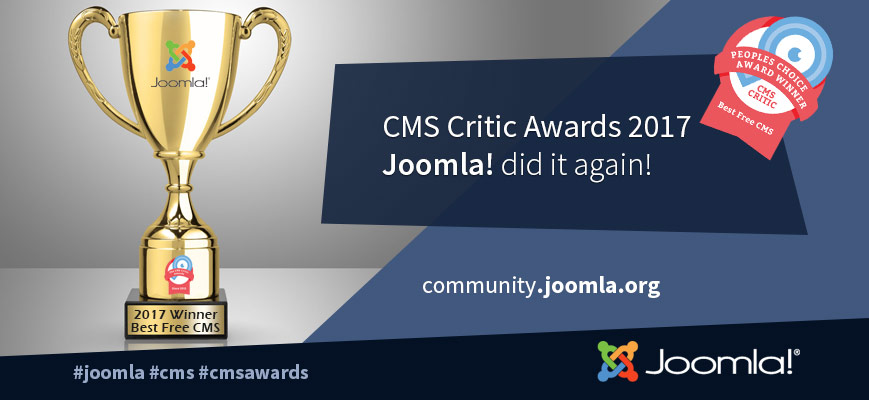 Joomla CMS Critic Award 2017