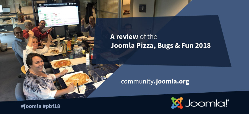 Joomla Pizza, Bugs & Fun 2018