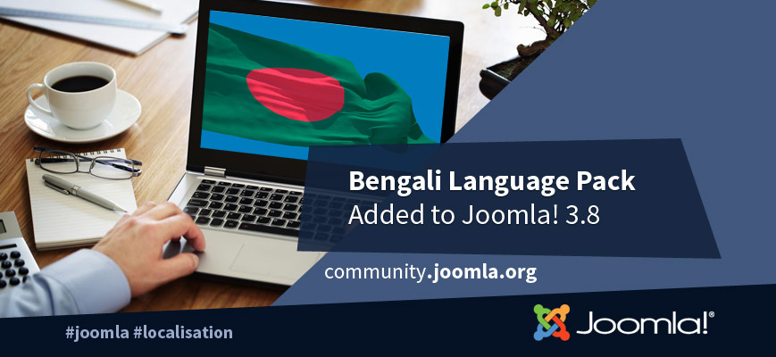 Bengali Language Pack Added to Joomla! 3.8