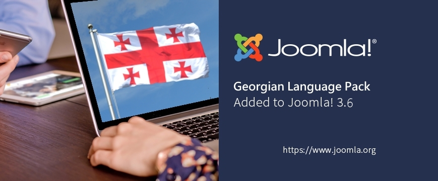 Georgian Language Pack Added to Joomla! 3.6