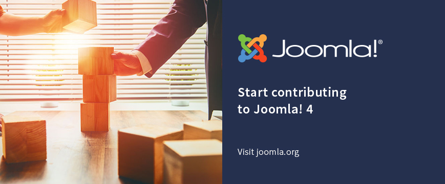 Start contributing to Joomla! 4