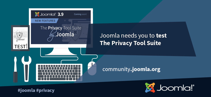Test the Privacy Tool Suite by Joomla